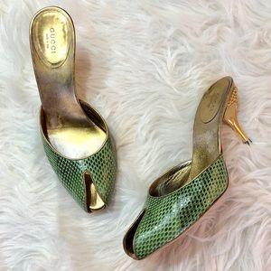 Gucci | Snakeskin Stud Heels